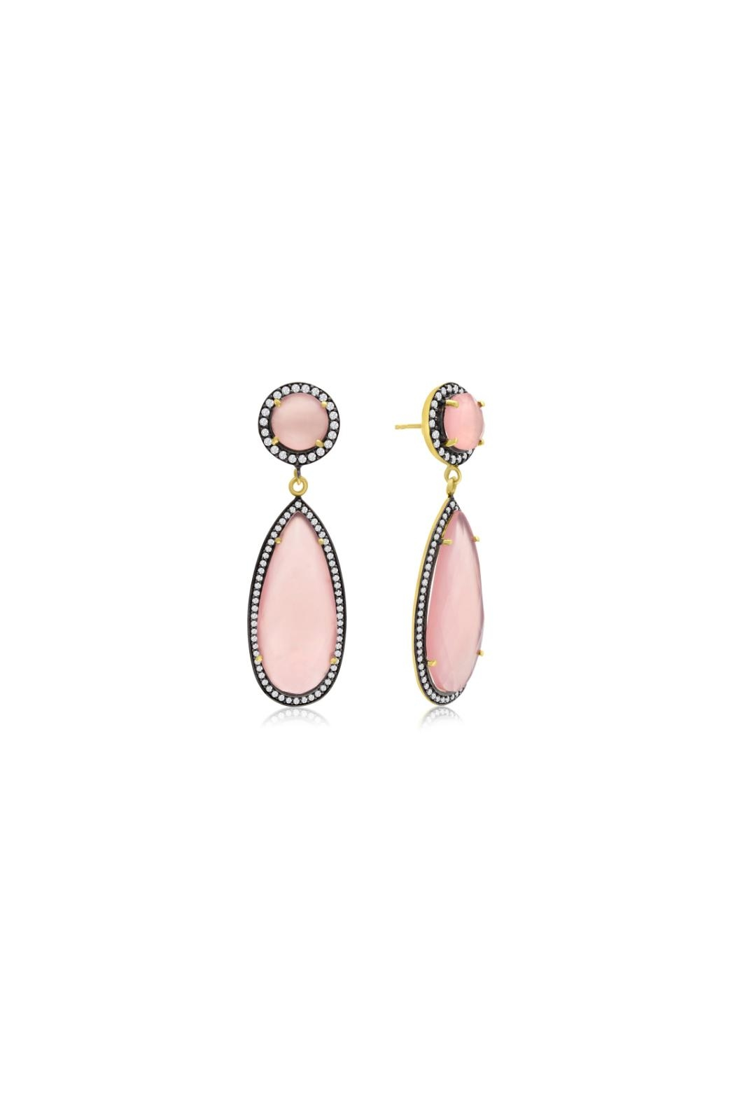6th Borough Boutique Rose Tina Earrings - Front Cropped Image