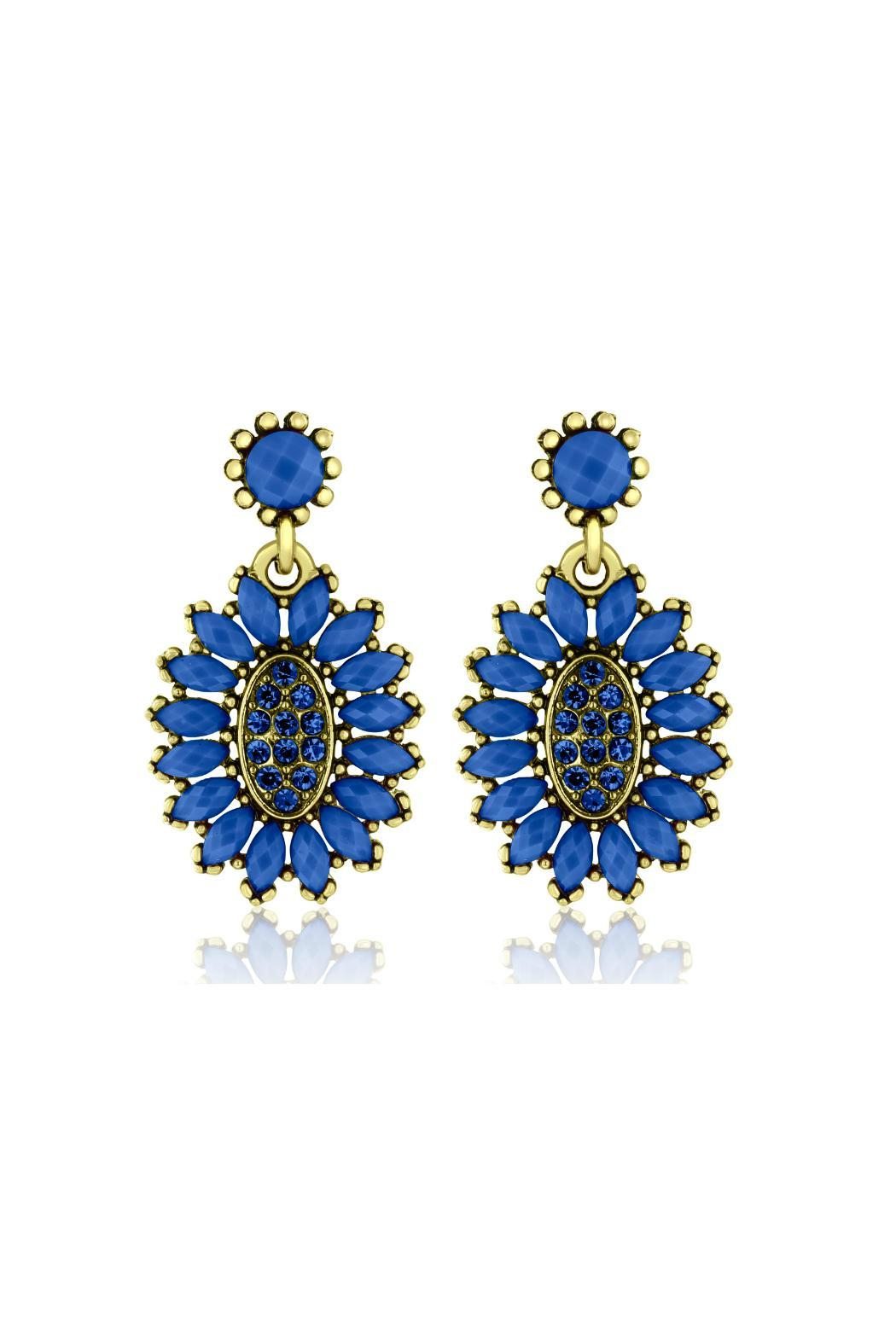 6th Borough Boutique Royal Crystal Earrings - Main Image