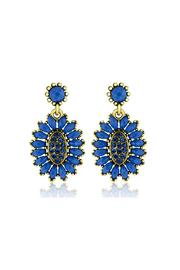 6th Borough Boutique Royal Crystal Earrings - Product Mini Image