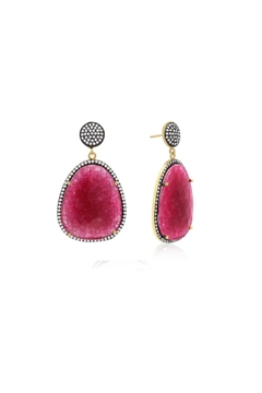 6th Borough Boutique Magenta Gemma Earrings - Product List Image