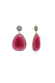 6th Borough Boutique Magenta Gemma Earrings - Product Mini Image