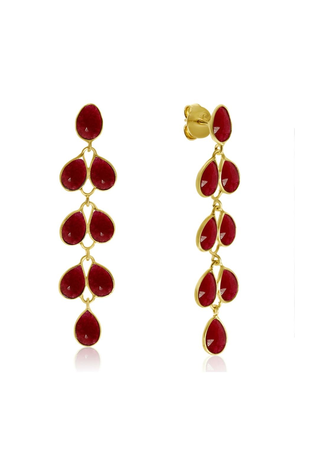 6th Borough Boutique Ruby Maddie Earrings - Main Image