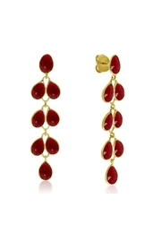 6th Borough Boutique Ruby Maddie Earrings - Product Mini Image