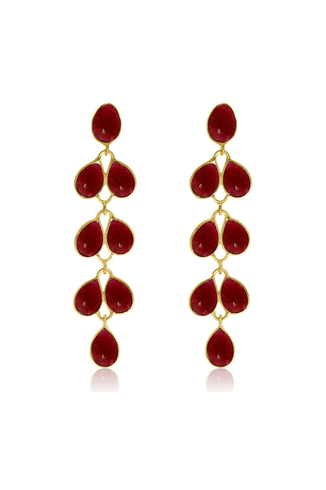 6th Borough Boutique Ruby Maddie Earrings - Front Full Image