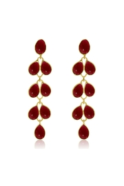 6th Borough Boutique Ruby Maddie Earrings - Front full body