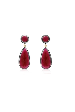 6th Borough Boutique Ruby Tina Earrings - Product List Image