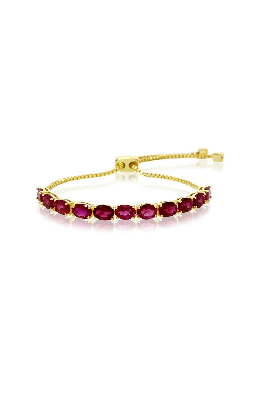 6th Borough Boutique Ruby Whitney Bracelet - Front Cropped Image