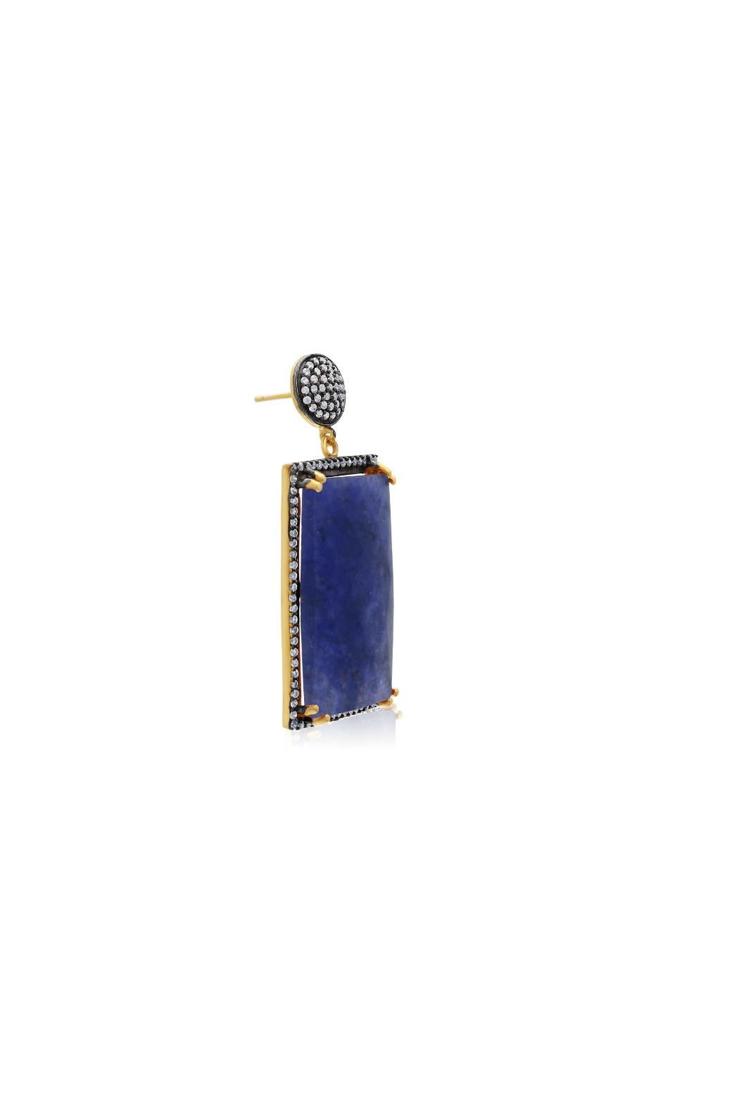 6th Borough Boutique Sapphire Ella Earrings - Side Cropped Image