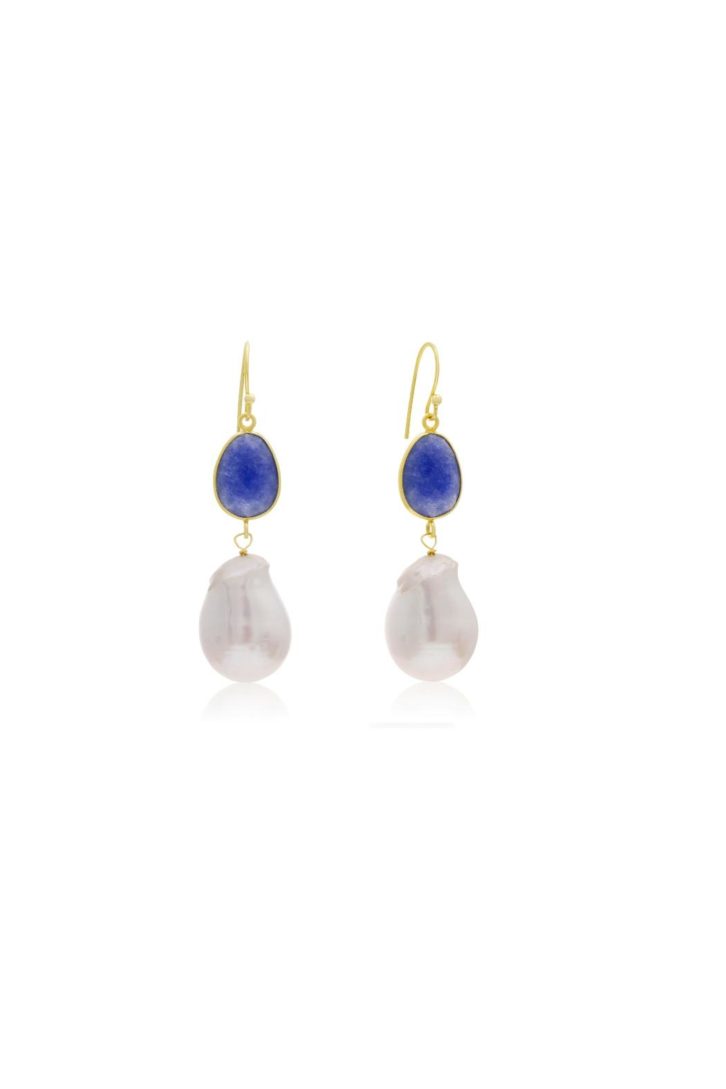 6th Borough Boutique Sapphire Michelle Earrings - Front Cropped Image