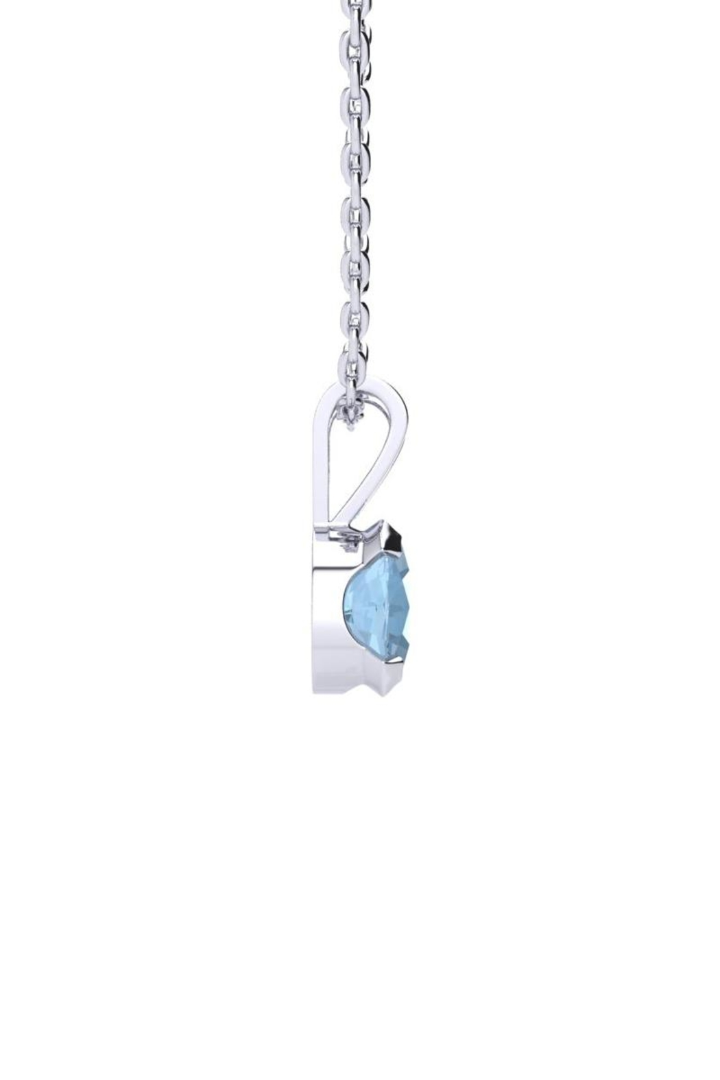 6th Borough Boutique Silver Aquamarine Necklace - Front Full Image