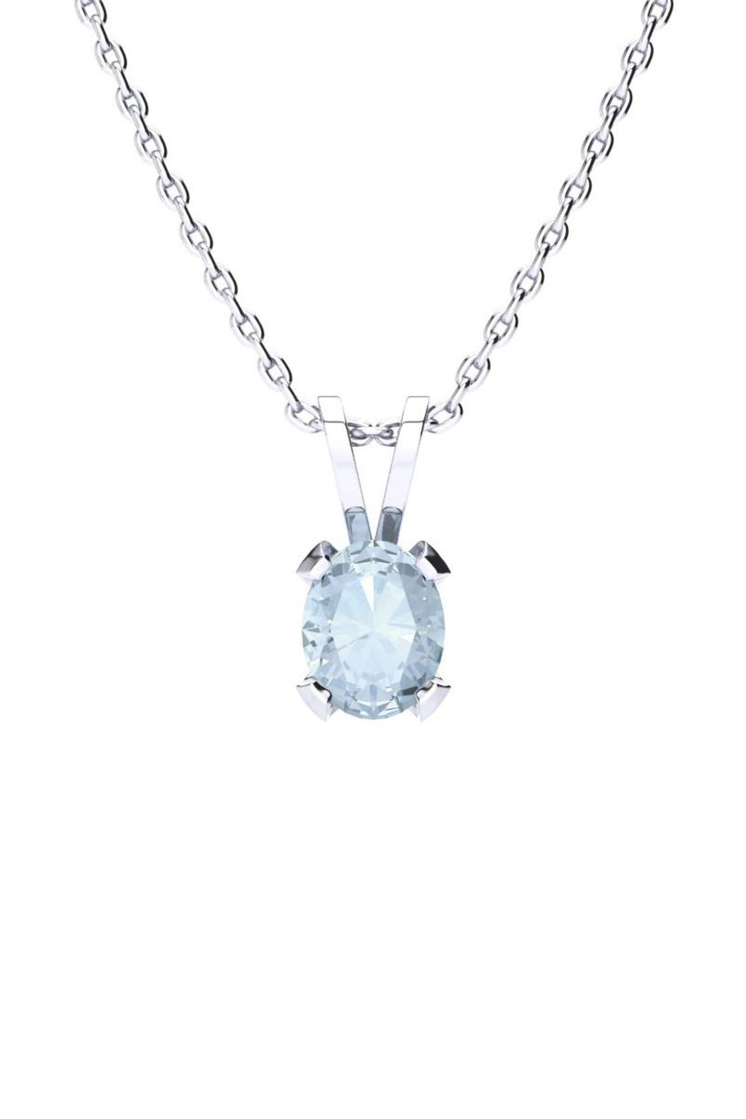 sapphire marine aquamarine in with silver white created aqua pendant sterling