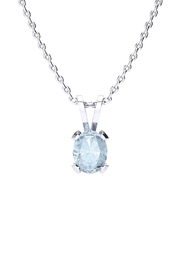 6th Borough Boutique Silver Aquamarine Necklace - Product Mini Image