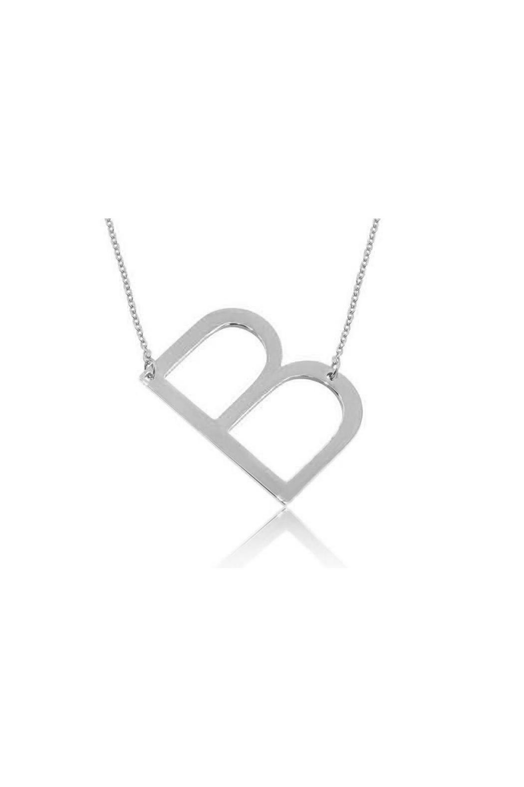 6th Borough Boutique Silver Initial Necklace - Front Full Image