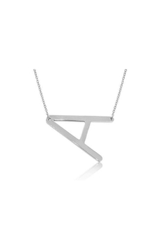 6th Borough Boutique Silver Initial Necklace - Product List Image