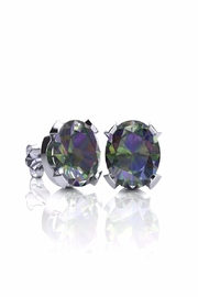 6th Borough Boutique Silver Mystic Studs - Product Mini Image