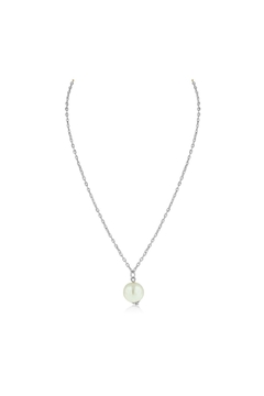 6th Borough Boutique Silver Pearl Necklace - Product List Image