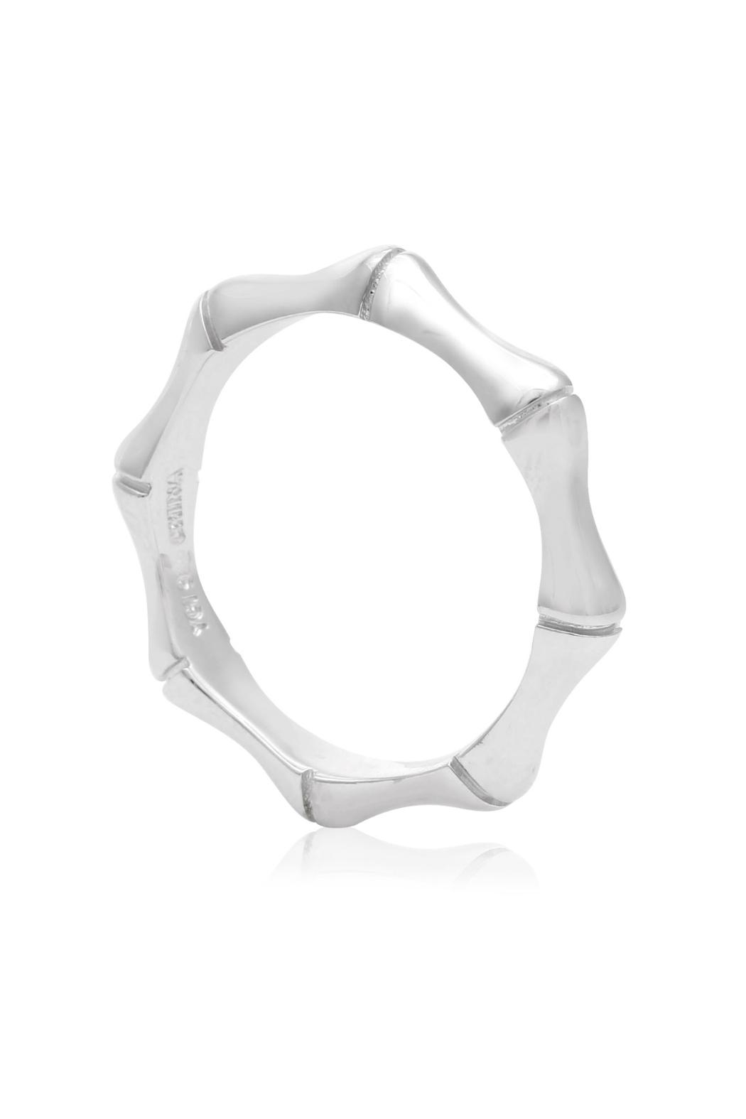 6th Borough Boutique Sterling Bamboo Ring - Side Cropped Image
