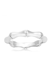 6th Borough Boutique Sterling Bamboo Ring - Front cropped