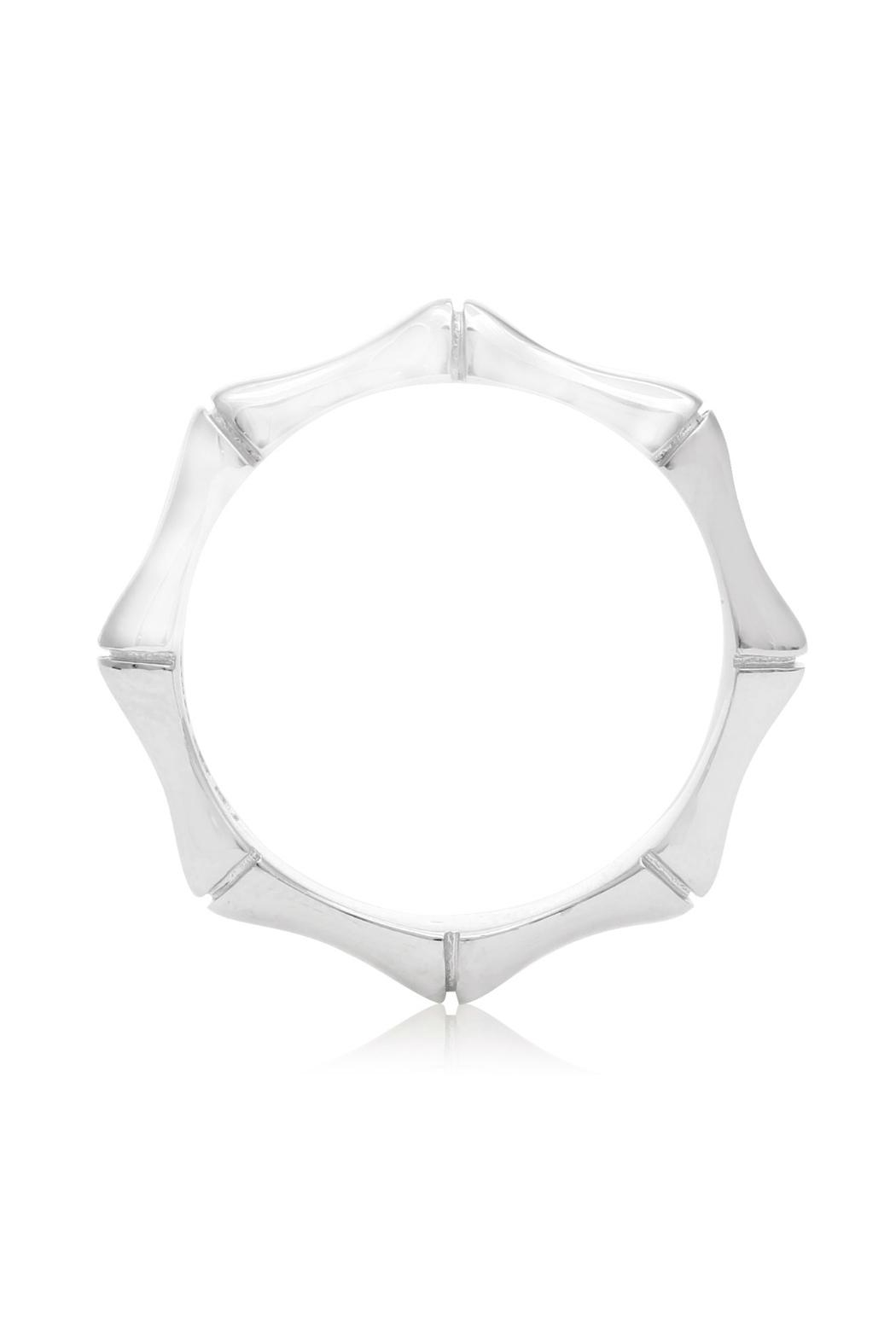 6th Borough Boutique Sterling Bamboo Ring - Front Full Image