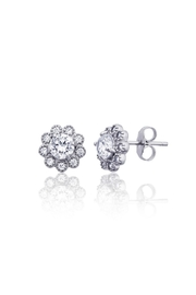 6th Borough Boutique Sterling Flower Studs - Front full body