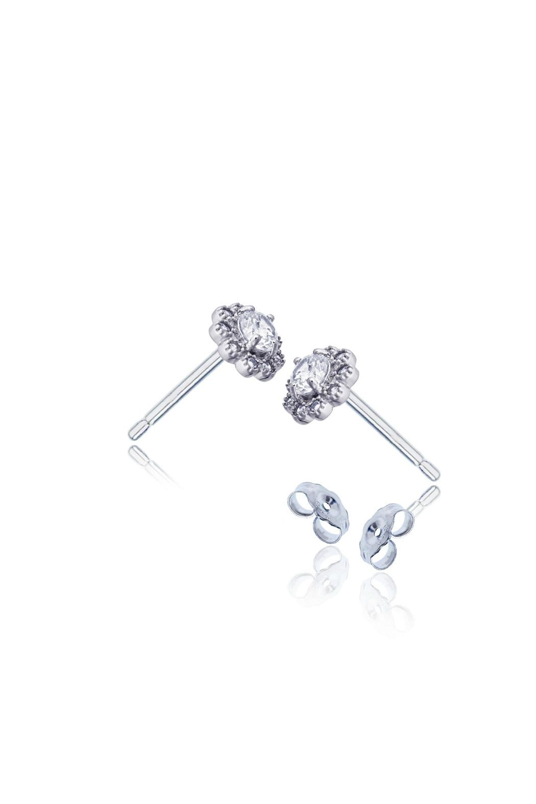 6th Borough Boutique Sterling Flower Studs - Side Cropped Image