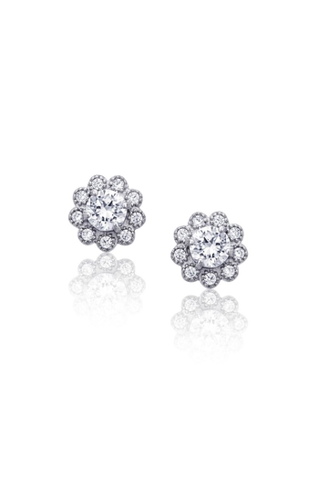 6th Borough Boutique Sterling Flower Studs - Main Image
