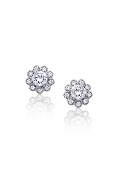 6th Borough Boutique Sterling Flower Studs - Product List Image