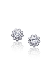 6th Borough Boutique Sterling Flower Studs - Front cropped