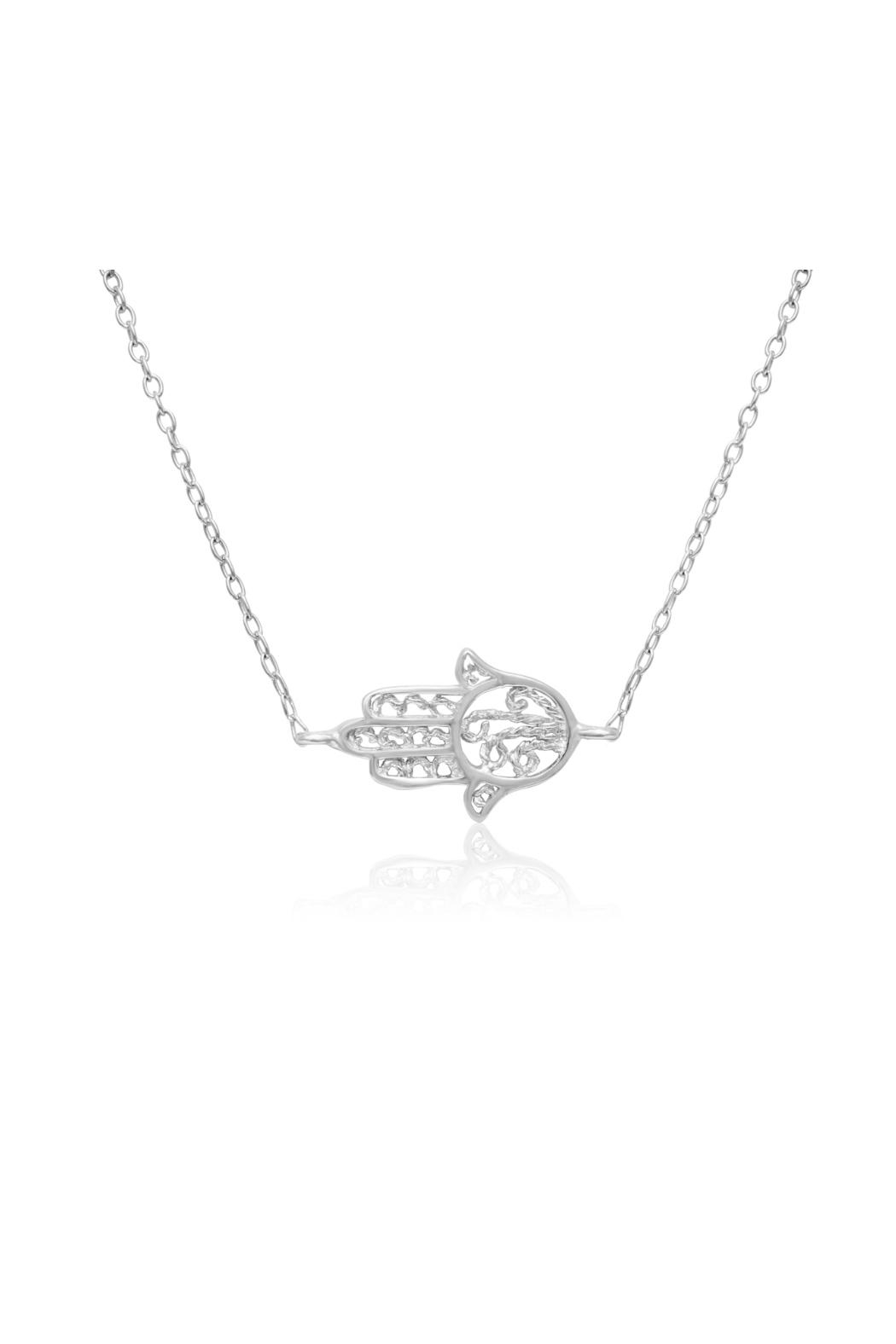 6th Borough Boutique Sterling Hamsa Necklace - Front Full Image