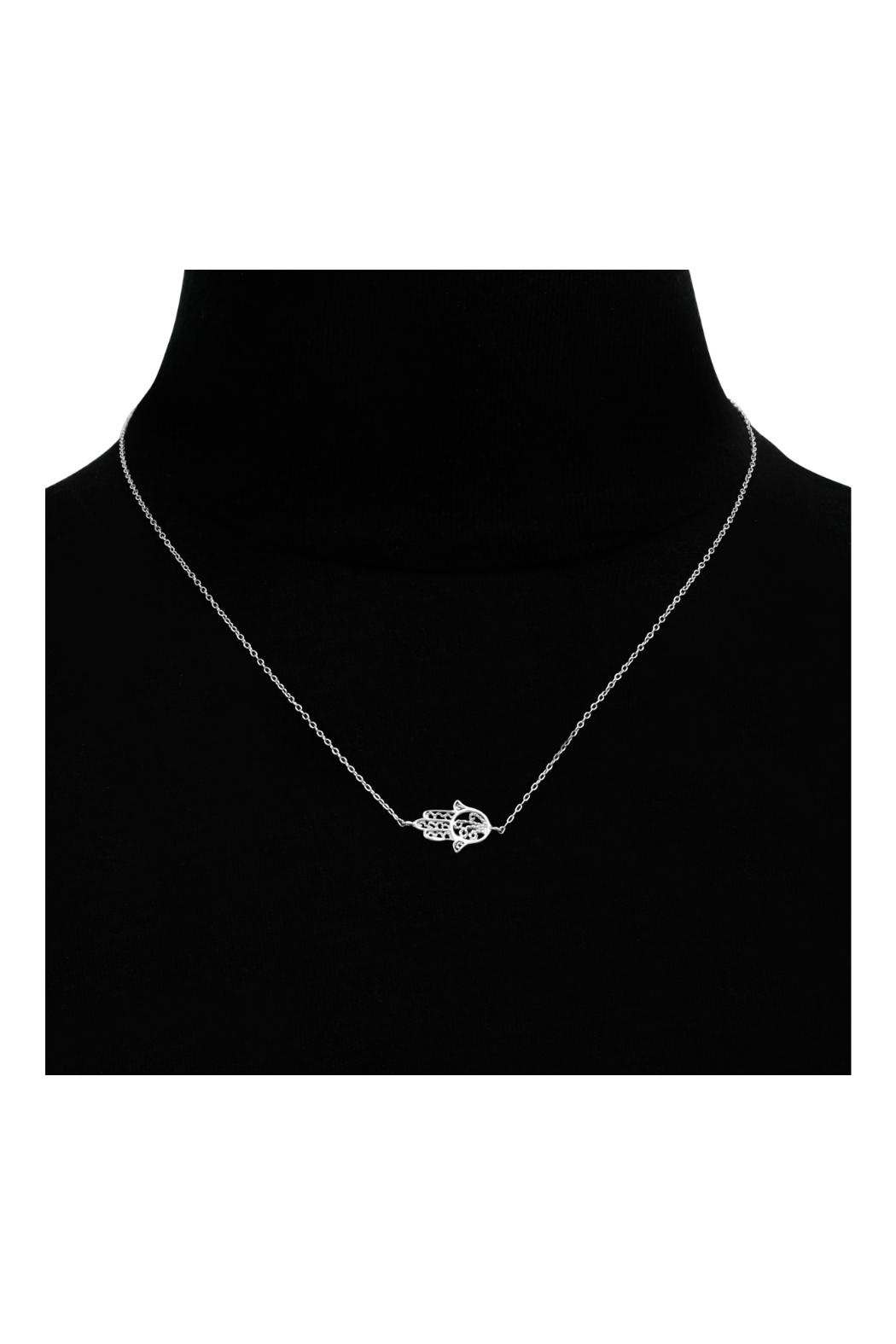 6th Borough Boutique Sterling Hamsa Necklace - Side Cropped Image