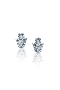 Shoptiques Product: Sterling Hamsa Studs