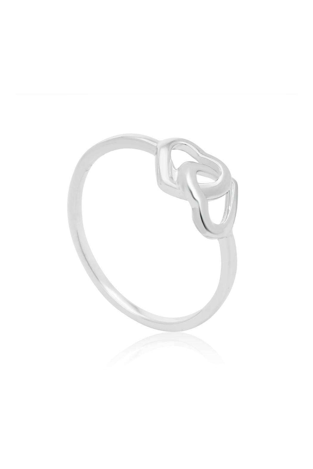 6th Borough Boutique Sterling Heart Ring - Side Cropped Image