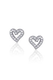 6th Borough Boutique Sterling Heart Studs - Front cropped