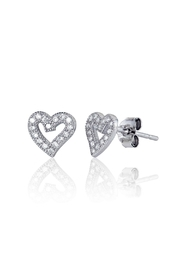 6th Borough Boutique Sterling Heart Studs - Front full body