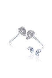 6th Borough Boutique Sterling Heart Studs - Side cropped