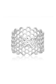 6th Borough Boutique Sterling Honeycomb Ring - Product Mini Image