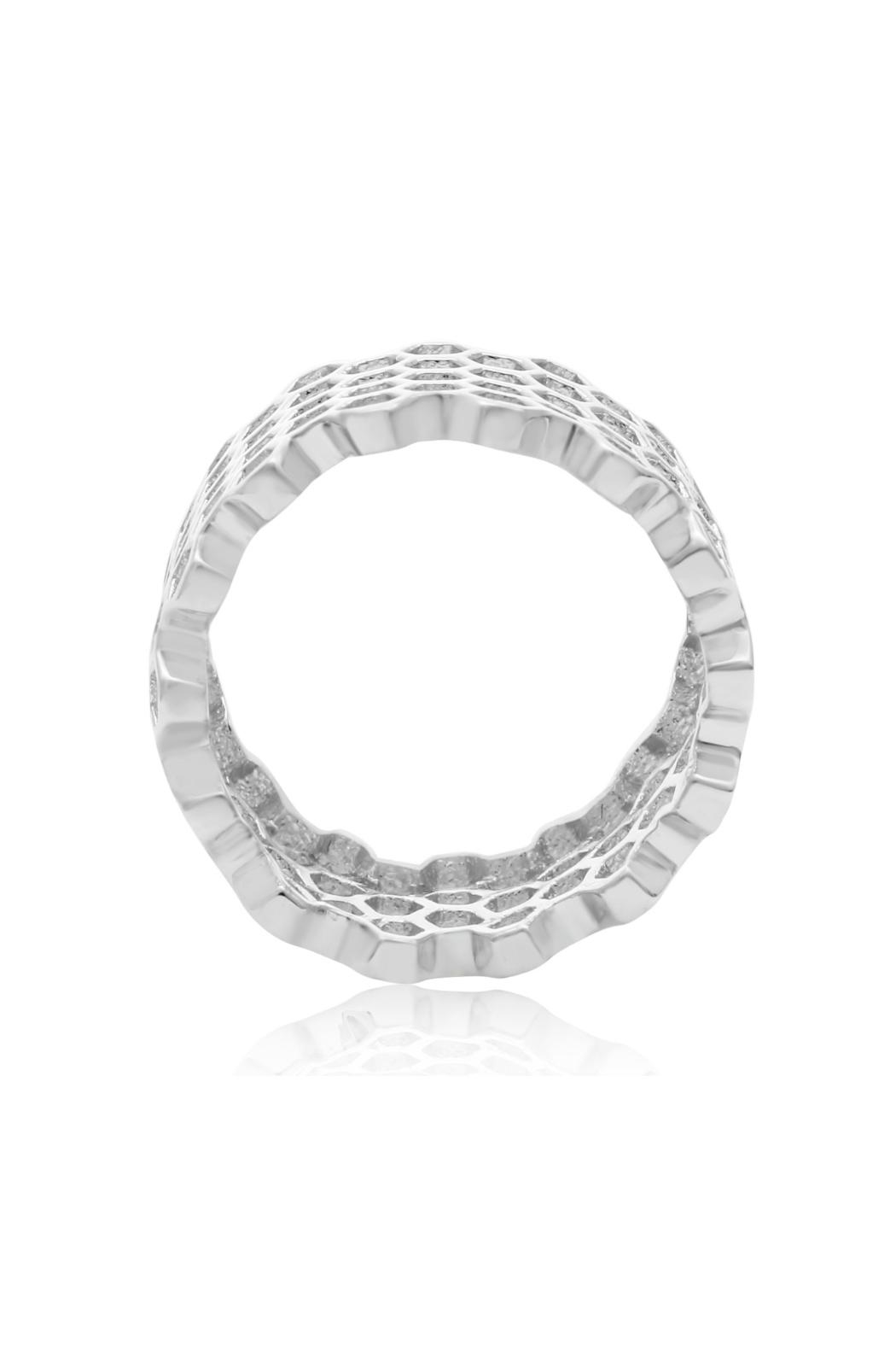 6th Borough Boutique Sterling Honeycomb Ring - Side Cropped Image