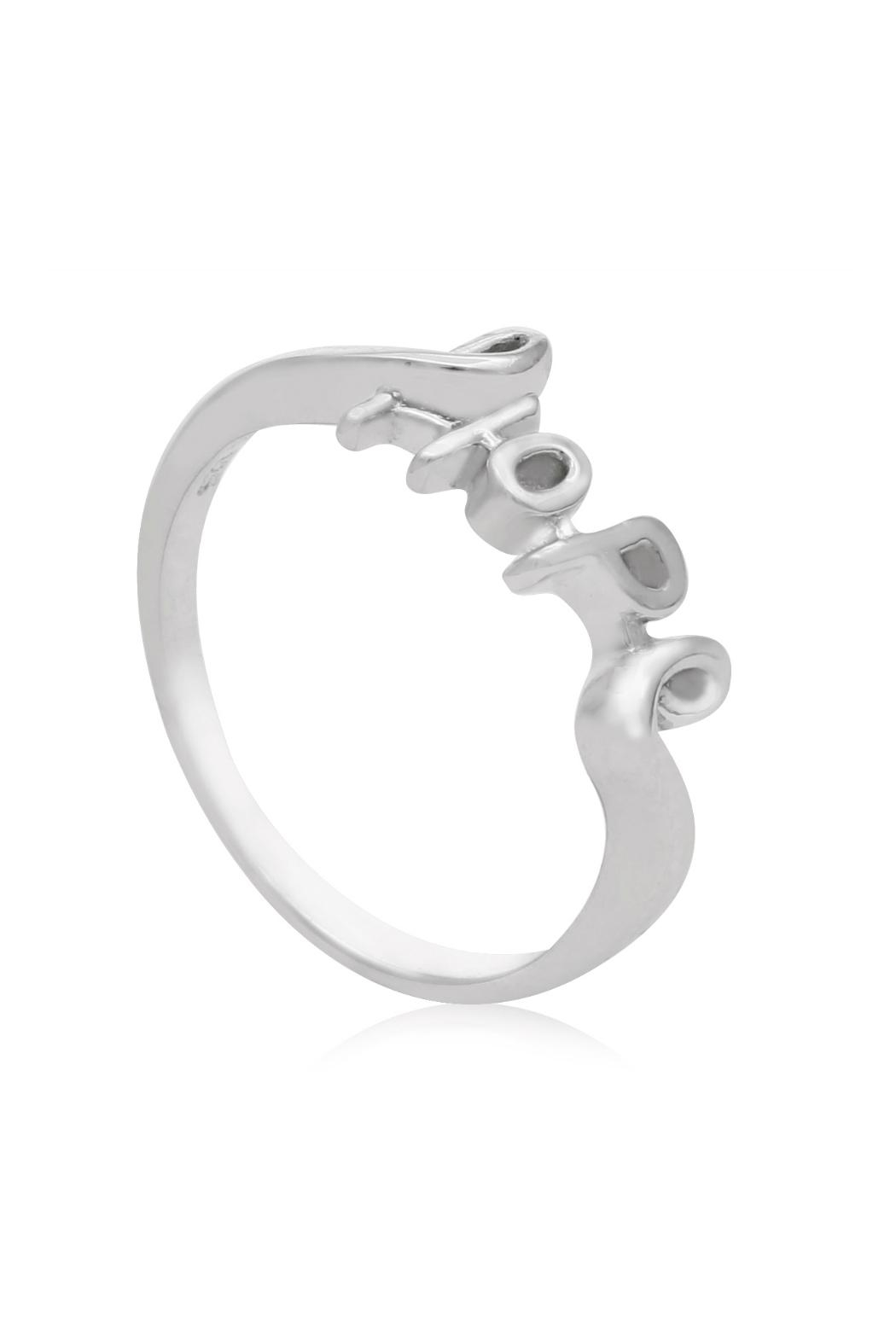 6th Borough Boutique Sterling Hope Ring - Side Cropped Image