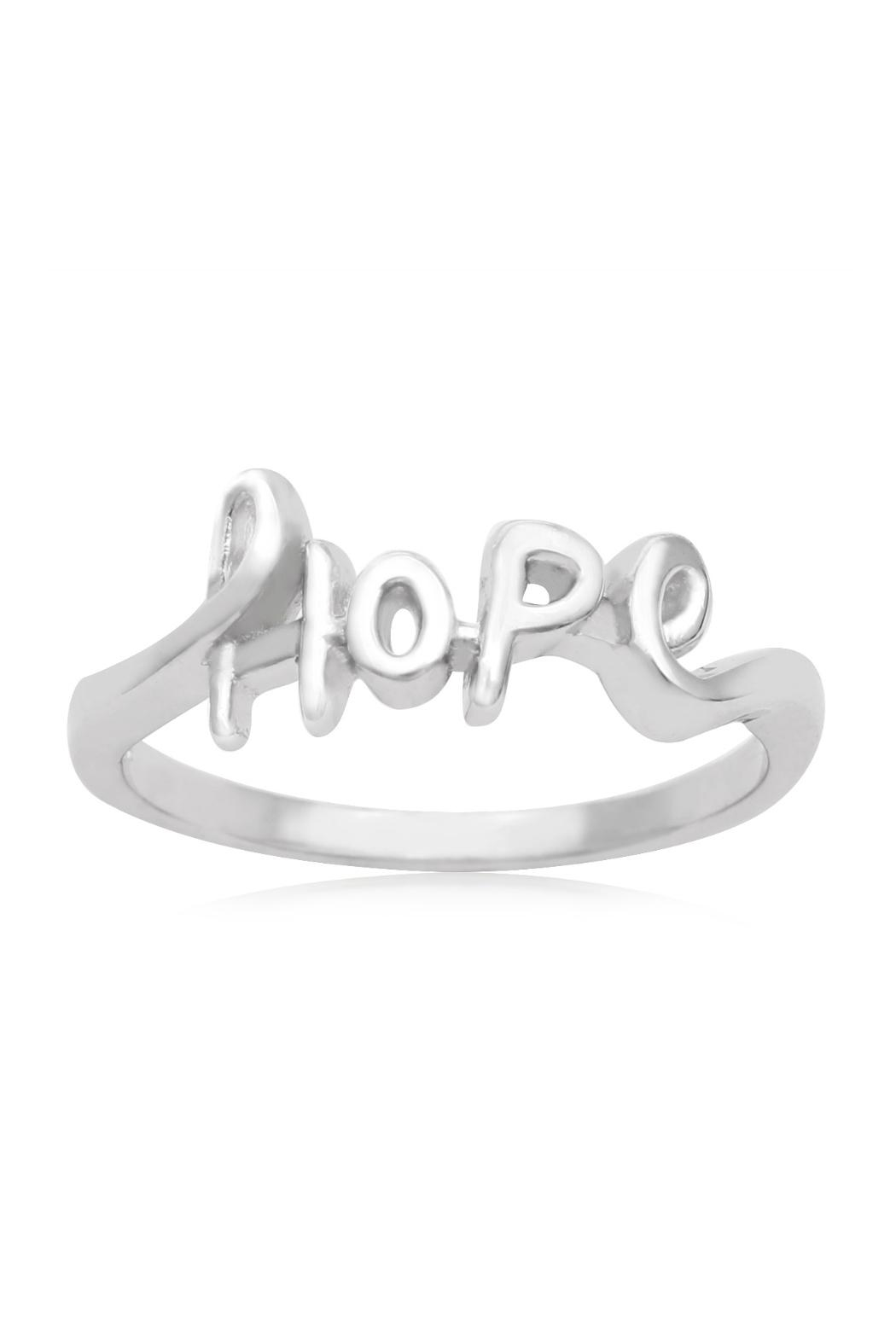 6th Borough Boutique Sterling Hope Ring - Main Image