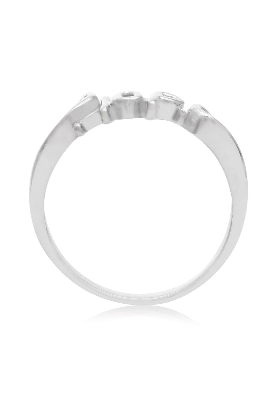 6th Borough Boutique Sterling Hope Ring - Front Full Image