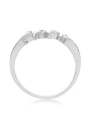 6th Borough Boutique Sterling Hope Ring - Front full body