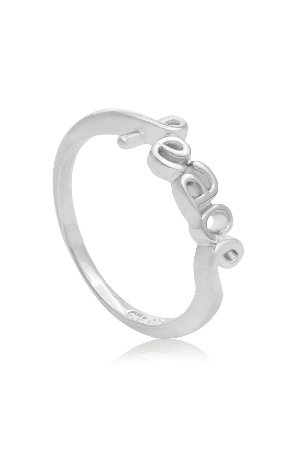 6th Borough Boutique Sterling Peace Ring - Side Cropped Image