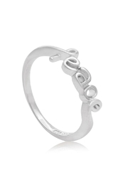 6th Borough Boutique Sterling Peace Ring - Side cropped