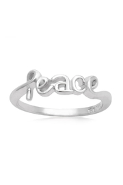 6th Borough Boutique Sterling Peace Ring - Front cropped