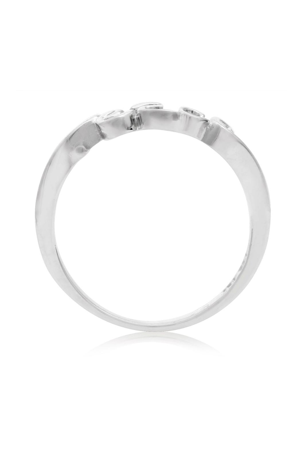 6th Borough Boutique Sterling Peace Ring - Front Full Image