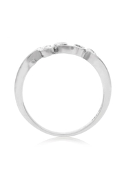 6th Borough Boutique Sterling Peace Ring - Front full body