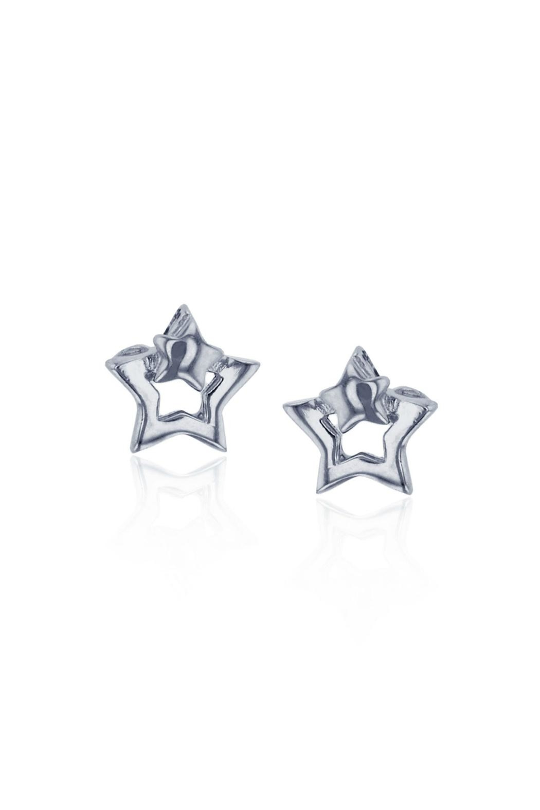 6th Borough Boutique Sterling Star Earrings - Front Full Image