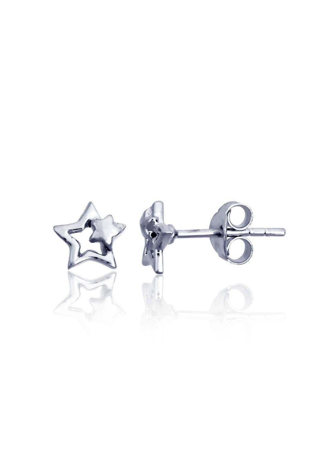 6th Borough Boutique Sterling Star Earrings - Front Cropped Image