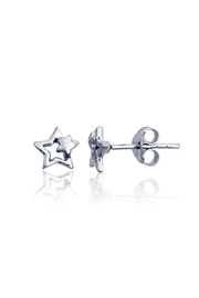 6th Borough Boutique Sterling Star Earrings - Product Mini Image