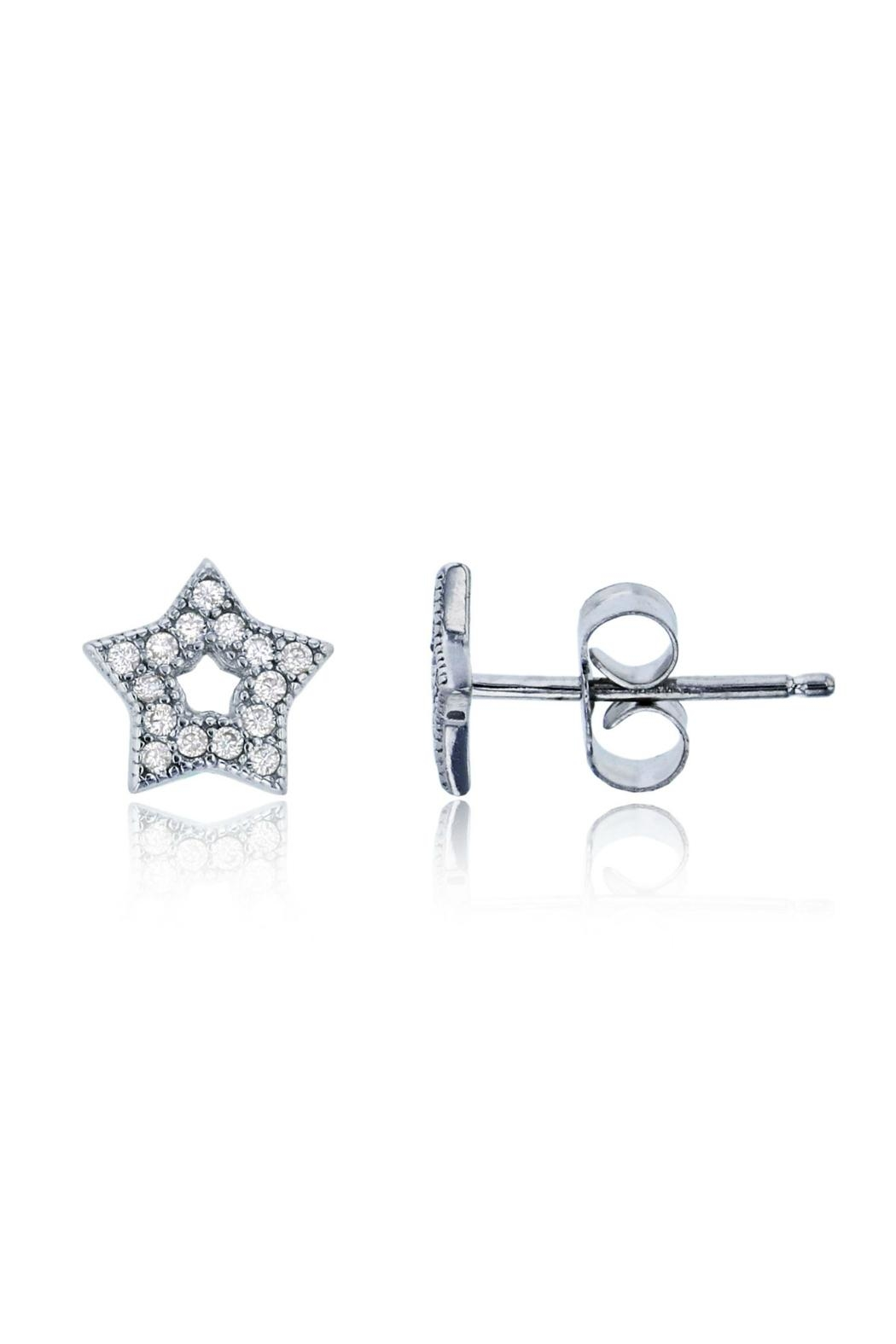 6th Borough Boutique Sterling Star Studs - Front Full Image